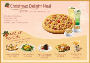 Pizza Hut Christmas Delight Meal