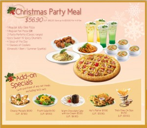 Pizza Hut Christmas Party Meal