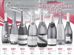 cold storage sparkling wine  supermarket promotions