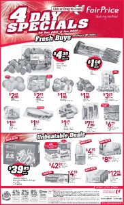 fairprice 4 days special  supermarket promotions