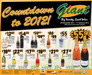 giant count down to 2012  supermarket promotions