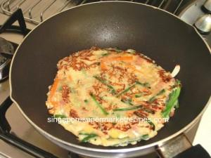 okonomiyaki japanese pancakes panfry 1 side