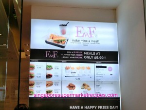 Ewf at Orchard Central Burger Menu