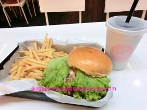 Ewf at Orchard Central Har Jeong Kai Burger Set