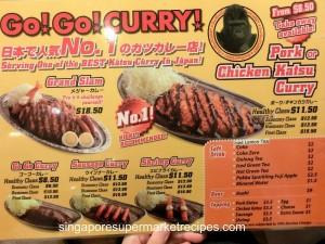 gogo curry menu