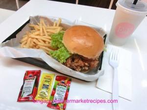 Ewf at Orchard Central Har Jeong Kai Burger with Condiments