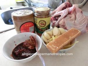 nam yue duck stew ingredients