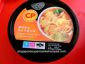 CP Shrimp Wonton in Tom Yum Soup