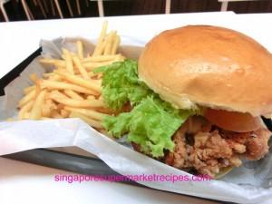 Ewf at Orchard Central Har Jeong Kai Burger CLose Up