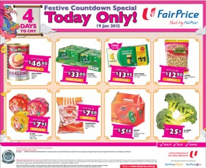 Fairprice Chinese New Year Supermarket Promotions TODAY ONLY