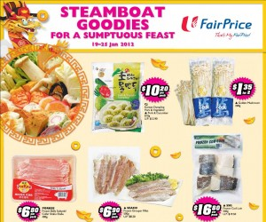 Fairprice chinese new year steamboat  Supermarket Promotions