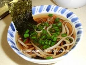 Japanese New Year  Soba ingredient hot soba