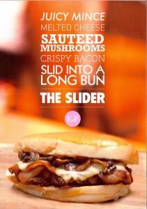 Mushroom Mince Bacon Burger