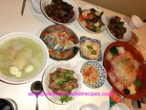 Reunion dinner things to do for the next 15 days of chinese lunar got our usual must have catonese dishes like pork trotter with sea moss and mushroom vegetables with seafood fermented bean paste with nam yue forumfinder Gallery
