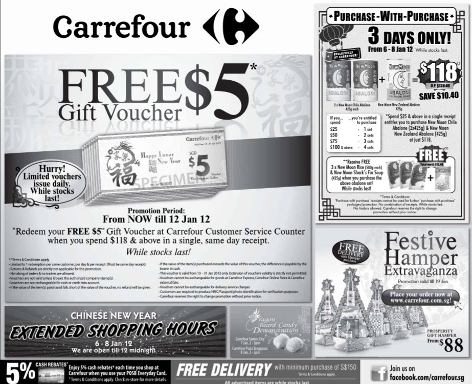 FAIRPRICE / COLD STORAGE / GIANT / CARREFOUR / SHOP N SAVE