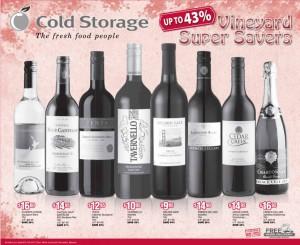 cold storage supermarket promotions wine
