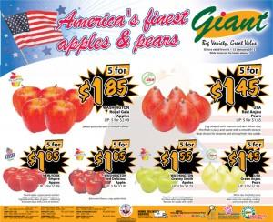 giant  supermarket promotions fruits