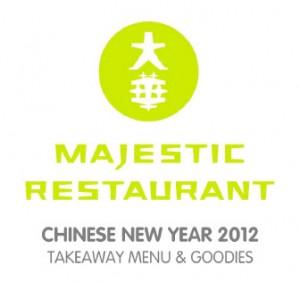 majestic restaurant chinese new year takeaway menu & goodies