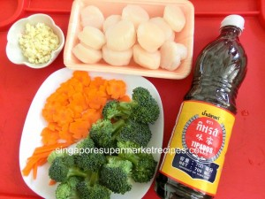 reunion dinner ideas sauteed scallop with vegetables ingredients