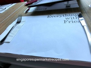 Everything with fries at Bugis table decor