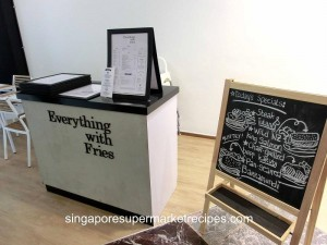 Everything with fries at Bugis reception