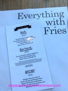 Everything with fries at Bugis special menu