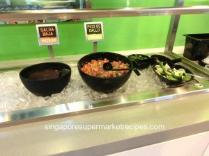 Baja Fresh Meixcan Grill at Hotel Rendezvous - salsa spread