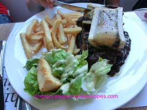 Everything with fries at Bugis steak with tulang