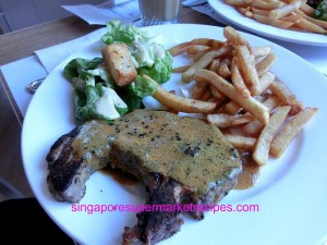 Everything with fries at Bugis pork chop