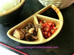 Chui Huay Lim Bistro Bak Kut Teh condiments