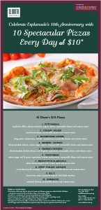Al Dente $10 Pizza Promotions