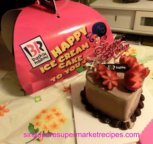 BASKIN ROBBINS VALENTINES DAY ICE CREAM CAKE OH SO GOOD TRIED