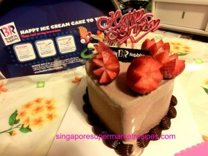 Baskin Robbins Valentine's Day Ice Cream Cake