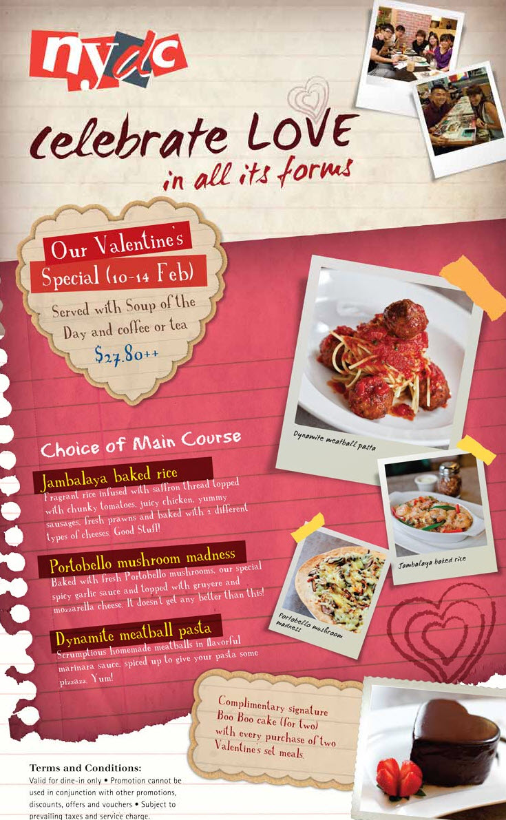 Nydc Valentine S Day Dining Promotions In Singapore