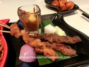 Taste restaurant at Ibis hotel - satay