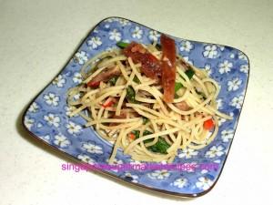 simple and quick bak hwa spaghetti recipes