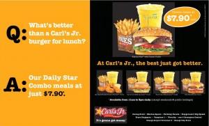 carls jr combo meals promotions