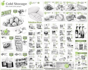 cold storage supermarket promotions
