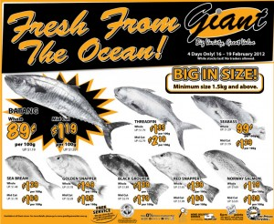 giant  supermarket promotions fish