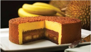goodwood park hotel durian fiesta - durian chocolate banana cake