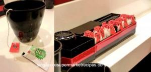 Sushi Express at CityLink Mall free green tea