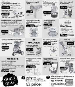 harbourfront mothercare baby fair 2012 promotions