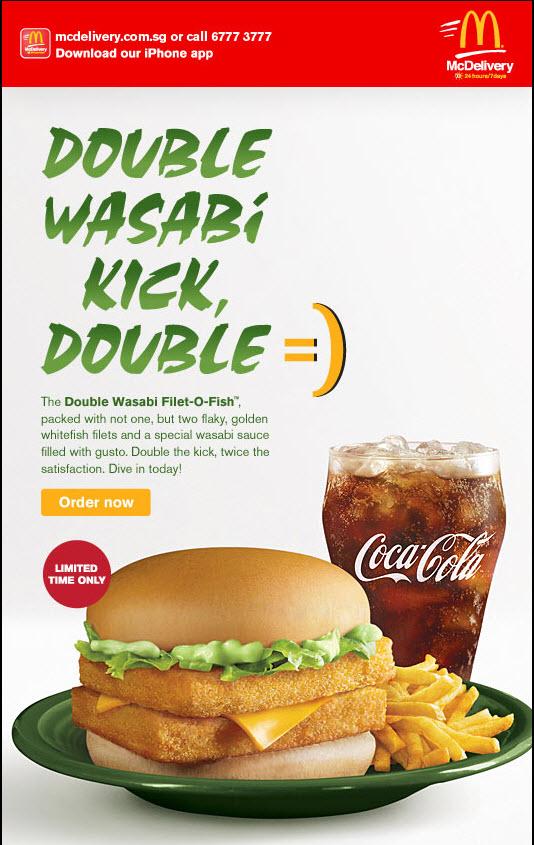 Mcdonald double wasabi filet o fish burger double the for Mcdonald s fish sandwich price