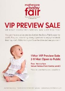 mothercare babyfair 2012 vip preview sale