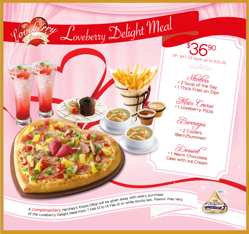 Pizza Hut Valentine S Day Promotions Heart Shape Pizza Just For