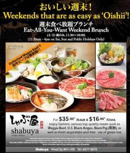 shabuya weekend all you want brunch