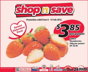 shop n save strawberry  supermarket promotions