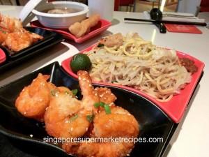 taste restaurant at Ibis - sweet and sour prawns
