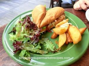 Oriole Cafe & Bar at Somerset pull pork sandwich