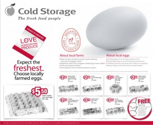 Cold Storage Local Eggs  Supermarket Promotions